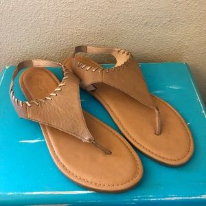 SPERRY TOP-SIDER Flat Leather Thong Sandals 12